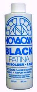 Novacan Black Patina for Solder & Lead - 8 oz