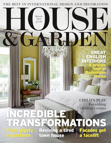 House & Garden, March 2014, Nursery Design in Yellow and Blue