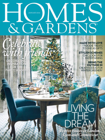 Homes & Gardens, January 2014, Nursery Design in Blue
