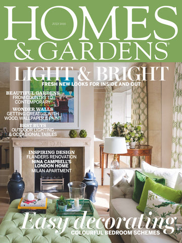 Homes & Gardens, July 2015, Zig Zag in Green