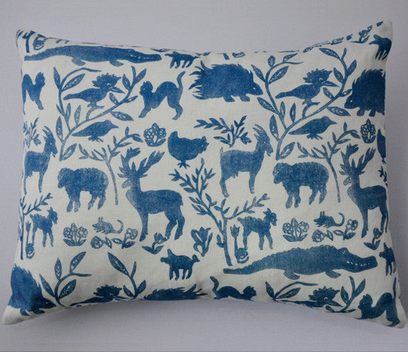 Nursery Design Cushion in Blue