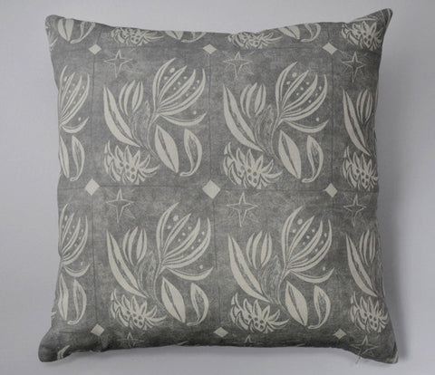 Winter Flower Cushion in Grey