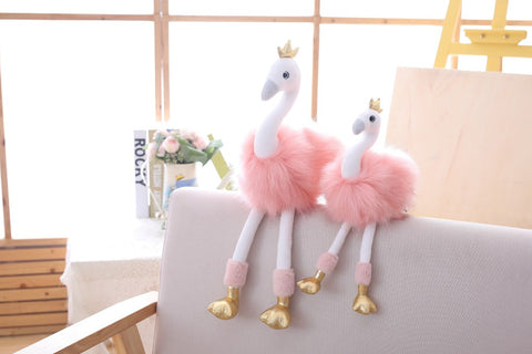 Lovely Flamingo/Swan Plush Toy for Home Decoration