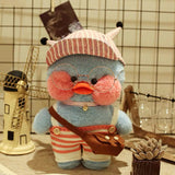 Lalafanfan CafeMimi Stuffed Animal Toys Blue Dress Duck - HeyHouse