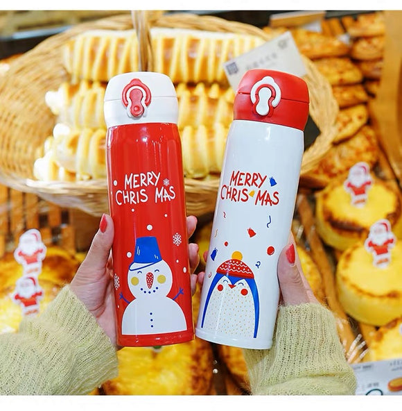 500ml Christmas Bounce Cover Thermos Bottle