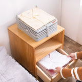 10Pcs/Set Folding Cloth Storage Holders Simple Clothing Wardrobe Finishing Racks Home Shirt Underwear Organizer Board Artifact - HeyHouse