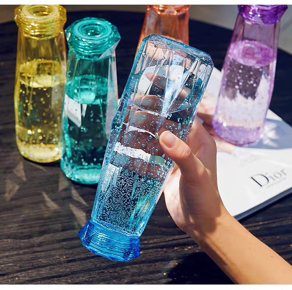 Diamond Shaped Plastic Bottle 620ml