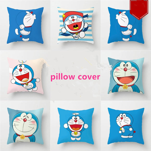 40*40cm Unstuffed Doraemon Pillowcase Cute Blue Cat Pillow Cover - HeyHouse