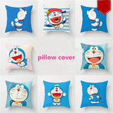 40*40cm Unstuffed Doraemon Pillowcase Cute Blue Cat Pillow Cover - HeyHouseCart