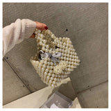 Womens Beaded Handbags Handmade Evening Pearls Bag - HeyHouseCart
