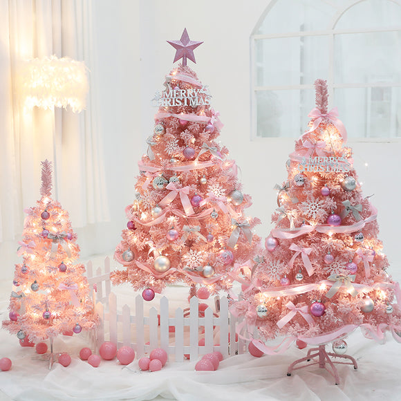 Pink Artificial Christmas Tree Decoration - HeyHouse