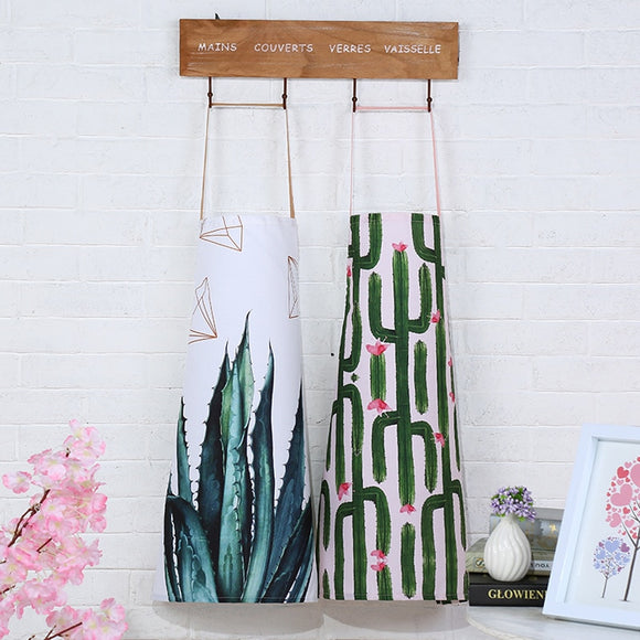 2019 New Originality canvas cotton aprons for woman Kitchen cooking apron Housework clean pinafore bib Fashion work clothes - HeyHouseCart