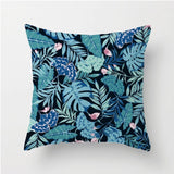 Manufacturers Wholesale Nordic Style Leaf Plants Flamingo Tropical Pillowcase Summer Palm Leaf Cushion For Sofas - HeyHouse