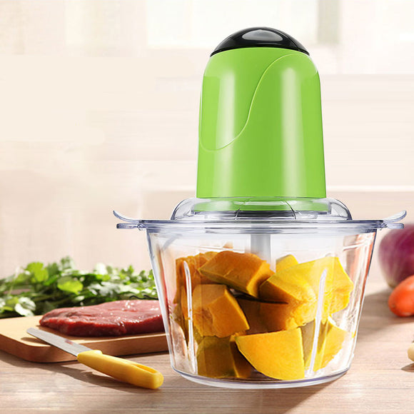 2L Electric Kitchen Meat Grinder Chopper Cocina Shredder Food Chopper Stainless Steel Electric Household Processor Kitchen Tools - HeyHouse