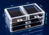 3 Layer Drawer Type Acrylic Makeup Storage Display Box Cosmetics Storage Organizers Jewelry Accessory Case Casket - HeyHouse