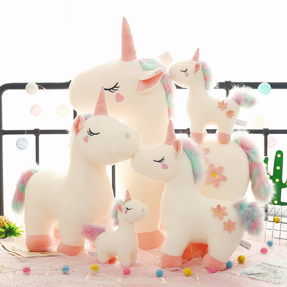 30/40/50 cm Soft Giant and Cute Unicorn Plush Toy/ Pink /White - HeyHouse