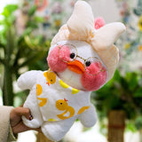 LaLafanfan Cafe Mimi Duck Plush Toy Cartoon Cute White Duck Stuffed Doll Soft Animal Dolls