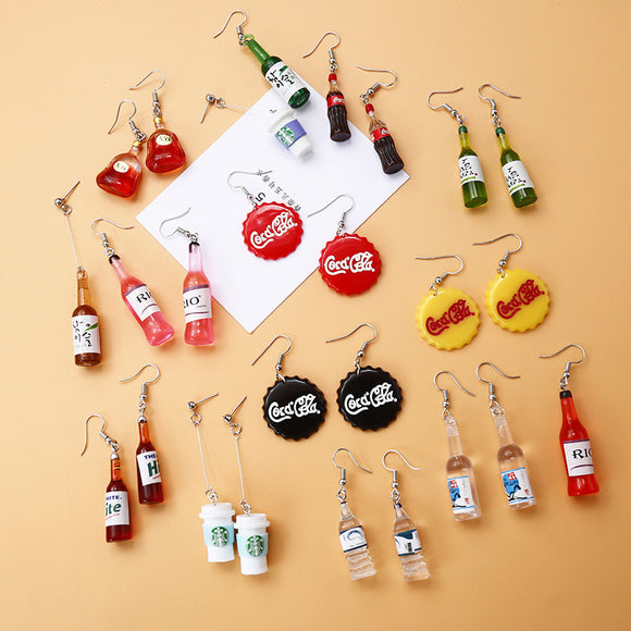 Bottle Earrings - HeyHouse
