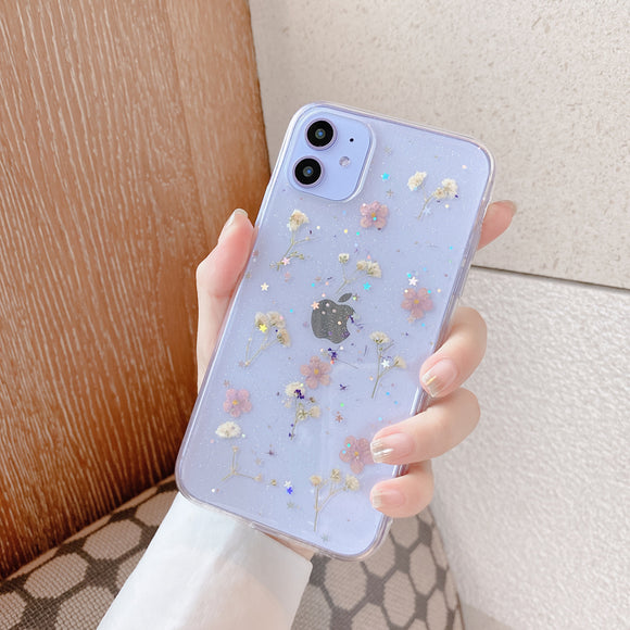 Real Dry Flowers Cases For Iphone