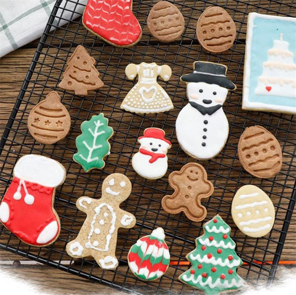 11 Pcs 3D Christmas Biscuits Mold