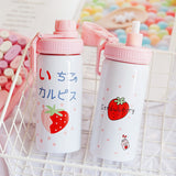 400ML Cute Pink Strawberry Water Bottle - HeyHouse