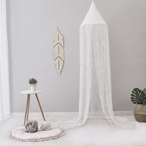 White and Pink Baby Mosquito Net