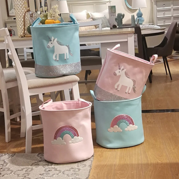 Unicorn Storage Basket for Toys - HeyHouse
