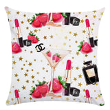 45cm*45cm Hand painted flowers and perfume bottles super soft cushion cover and sofa pillow case Home decorative pillow cover - HeyHouse