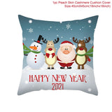 45x45cm Cartoon Santa Claus Elk Christmas Pillowcase