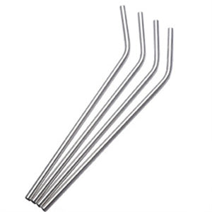 50pcs/lot Stainless Steel Straws Reusable Bent Straight Metal Drinking Straws For 20oz 30oz Tumbler Home Party Bar Accessories - HeyHouse