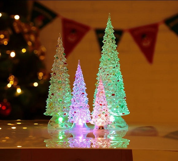 Colorful Light Crystal Acrylic Christmas Tree Set
