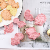 Dinosaur Cookies Cutter Dinosaur Biscuit Embossing Mould