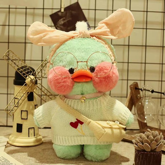 Lalafanfan CafeMimi Stuffed Green Duck Plush Dolls - HeyHouse
