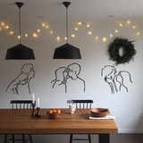 Lover Kiss Wall Sticker