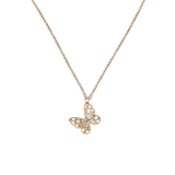 14k Gold Plating Butterfly Necklace