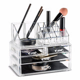 Acrylic Makeup Organizer Storage Boxes Make Up Organizer For Jewelry Cosmetics Brush Organizer Case with 4 Drawers type #30894 - HeyHouse