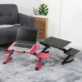 Aluminum Alloy Notebook Adjustable Portable Folding Computer Desk Student Notebook Computer Desk with Large Cooling Fan