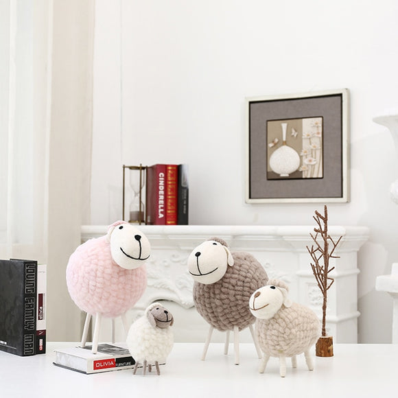 Desktop Decoration Pure Handicrafts Wool Felt Little Sheep Figurines Home Accessories Kid Toys - HeyHouse