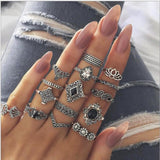 Women Ring  Female Retro Silver Jewelry - HeyHouse