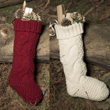 Christmas Knitting Stockings Xmas Gift - HeyHouse