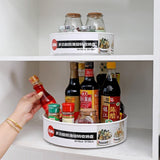 360 Rotating Round Spice Storage Rack for Kitchen Organization
