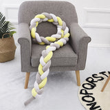Creative Knotted Pillow 200cm Baby Crib BumperLong Knotted Braid Weaving Plush Protector Modern Simply Knotted Throw Pillow - HeyHouse