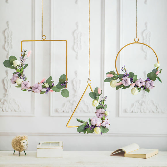 Geometric Iron Craft Artificial Flower - HeyHouse