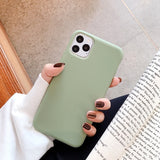 Cute Matte Solid Candy Phone Case for Iphone 11 Case 11 Pro Max Xs Max Xr Simple Silicone Case for Iphone 7 6s 8 Plus Soft Cover