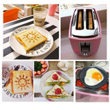 6 Gear 220V Home Electric Toaster 2 Slices Bread Oven Automatic Breakfast Maker With Dustproof Lid Egg Mold Bread Clip - HeyHouse