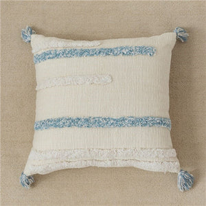 Chenille Pillow Cover With Tassels - HeyHouse