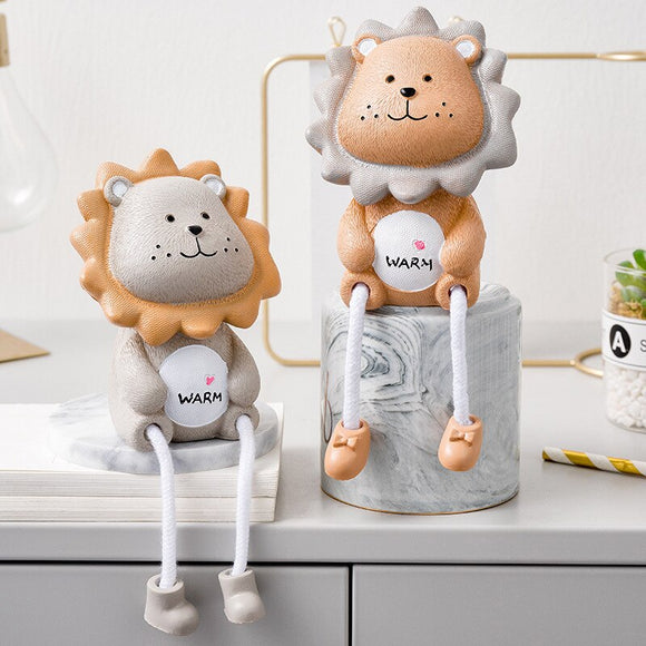 Desktop Decoration Animal Figurines Lion Bear Home Accessories - HeyHouse
