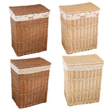 Dirty Clothes Storage Basket Large Wicker Mesh Storage Box Laundry Hamper With Lid Waterproof Moisture Proof Home Organizer - HeyHouse