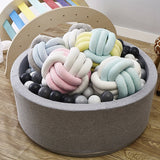 Enipate 5 Colors Lovely Velvet Colourful Knotted Braided Cushion Ball Chunky Pillow Handmade Creative Brief Decor Pillow 25*25cm - HeyHouse