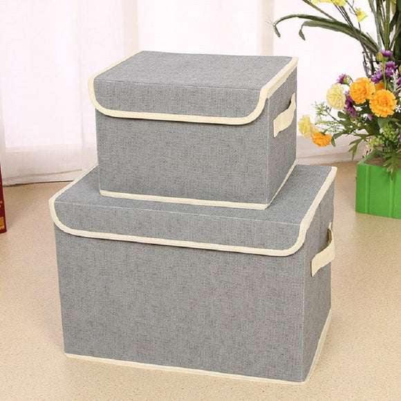 Fashion Non-Woven Fabric Fabric Folding Socks Underwear Ties Bra Cosmetics Jewelry Book And Toys Storage Box Closet Organizer - HeyHouseCart